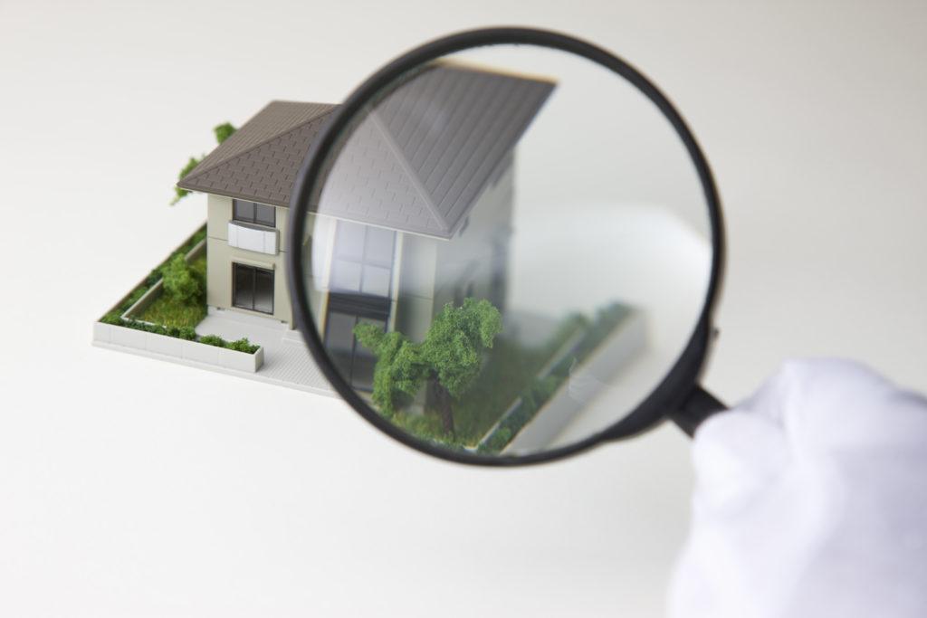 家と虫眼鏡